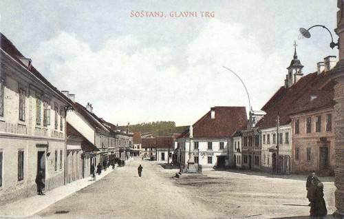 Zgodovina Šoštanj - Trg bratov Mravljakov